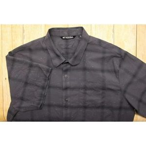 Mens XXL Travis Mathew Button Up Shirt Golf Plaid